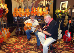 Playing for Gretsch with Bobby Gibson 2009