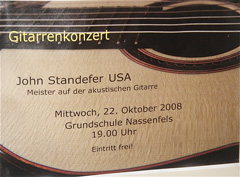 Poster for 2008 Concert in Germany
